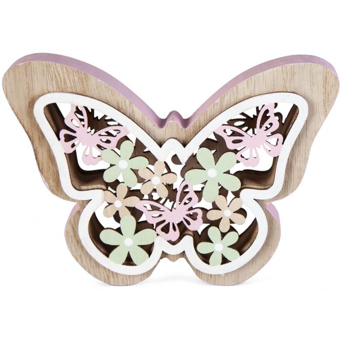 Deko-Schmetterling - aus Holz - 14 x 10 cm