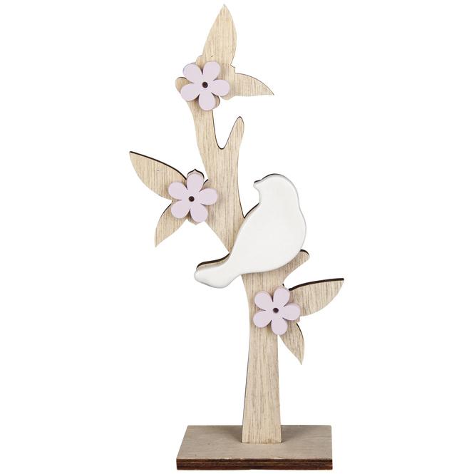 Standdeko - Baum - aus Holz - 9,5 x 5 x 23,5 cm