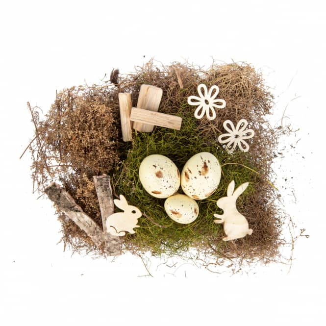 Dekoset - Ostern - aus Holz