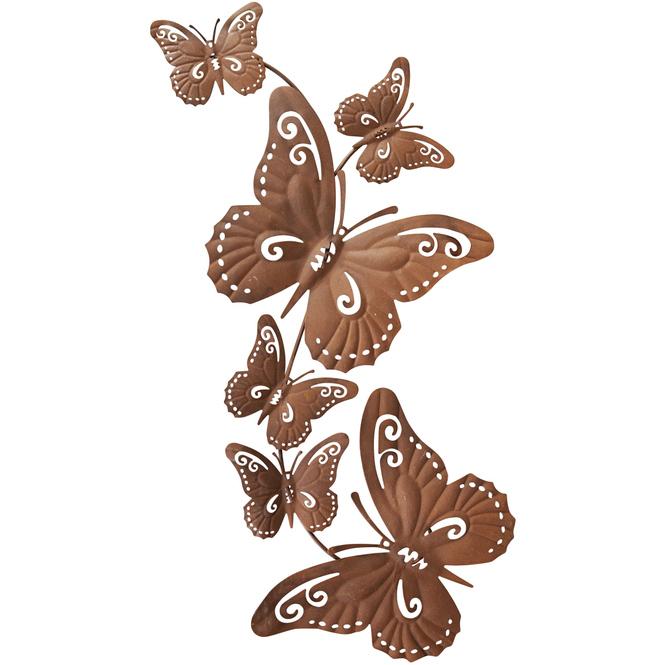Wanddeko - Schmetterlinge - 63,5 x 10,5 cm
