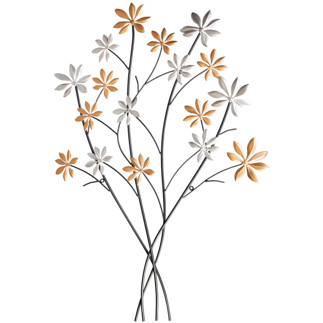 Wanddeko - Blumen -  67 x 2 x 97 cm