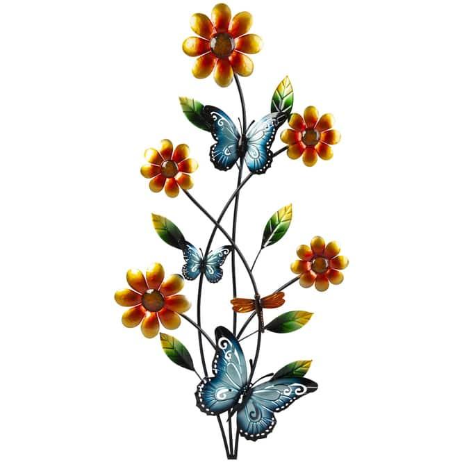 Wanddeko - Blumen - 46 x 2 x 91 cm