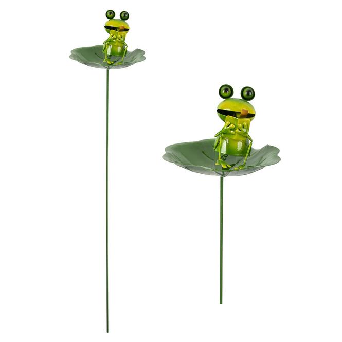 Pflanzenstecker - Frosch - ca. 16,5 x 15,5 x 76 cm