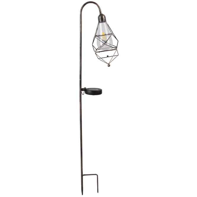 LED-Solarstecker - Laterne - 18 x 10 x 82 cm