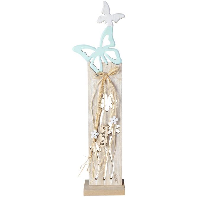 Standdeko - Schmetterling - aus Holz - 12 x 7 x 50 cm
