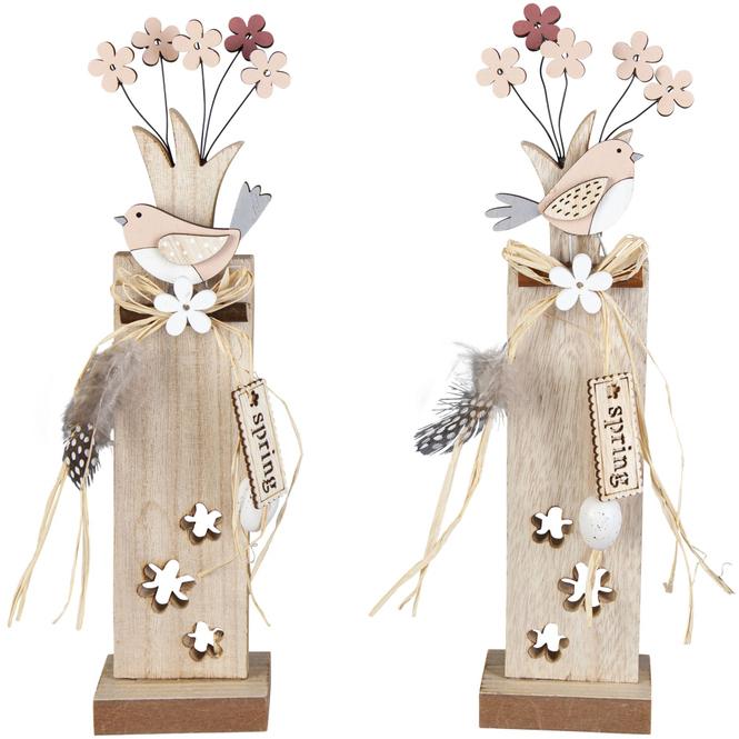 Standdeko - Vogel - aus Holz - 7 x 5 x 30 cm - 1 Stück