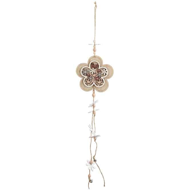 Dekohänger - Blume - aus Holz - 12 x 12 x 50 cm