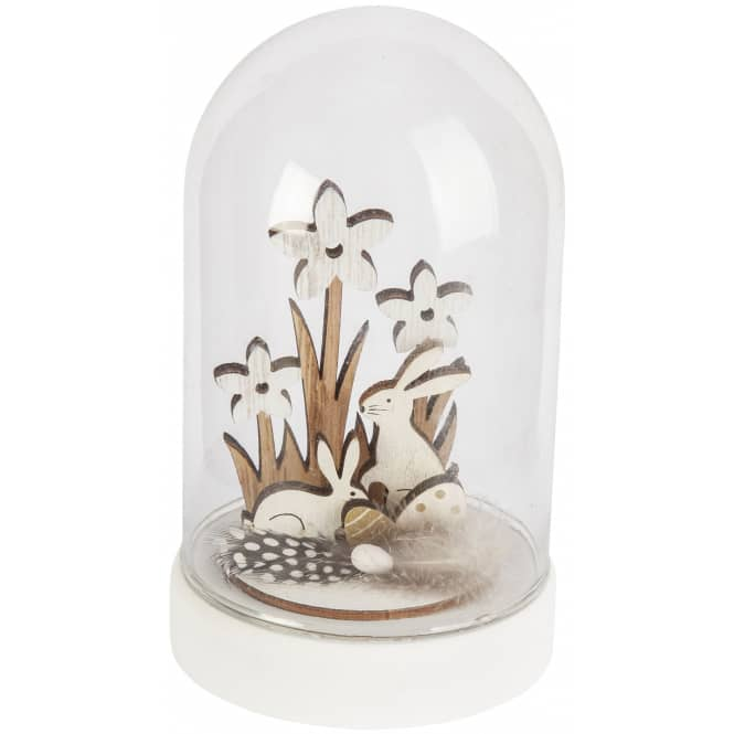 Dekoglocke - Ostern - aus Glas - 9 x 9 x 15 cm