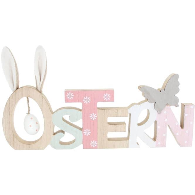 Deko-Schriftzug - Ostern - aus Holz - 35 x 2 x 20 cm