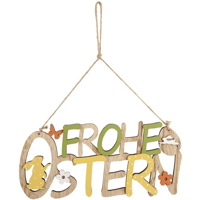 Dekohänger - Frohe Ostern - aus Holz - 30 x 1 x 14 cm