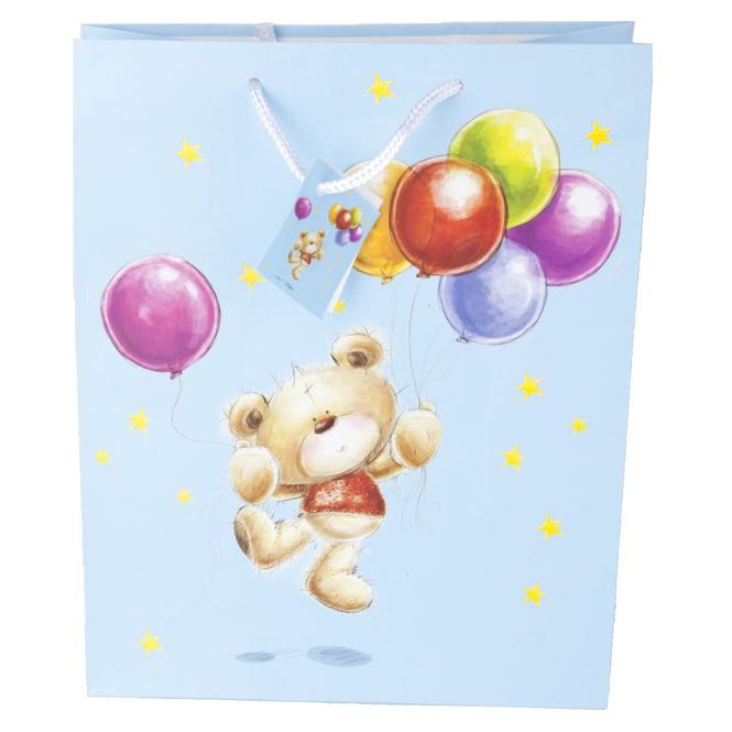 Geschenktasche - Bär - 26 x 12,5 x 32,5 cm