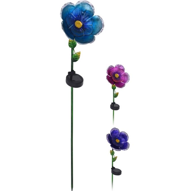 LED-Solarstecker - Blume - 15,5 x 81 cm - 1 Stück