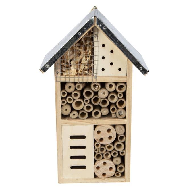 Insektenhotel - aus Holz - ca. 15 x 9 x 26 cm