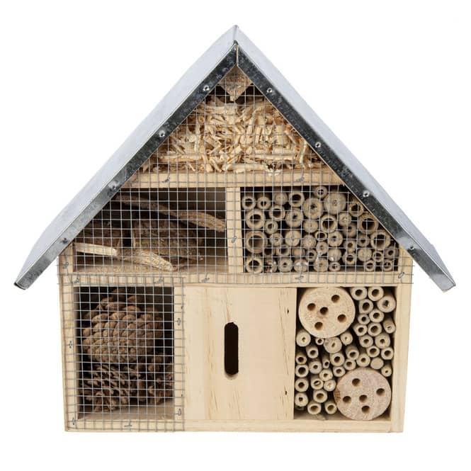 Insektenhotel - aus Holz - ca. 29,5 x 9 x 28 cm