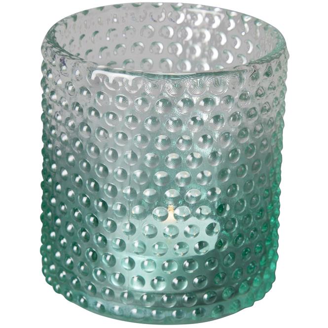 Teelichtglas - 8 x 9 cm - grün