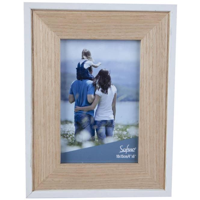 Bilderrahmen - aus Holz - 16 x 1,5 x 21 cm