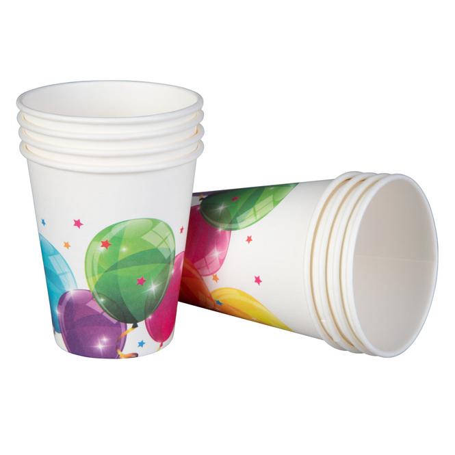 8 Becher - Ballons - 200 ml