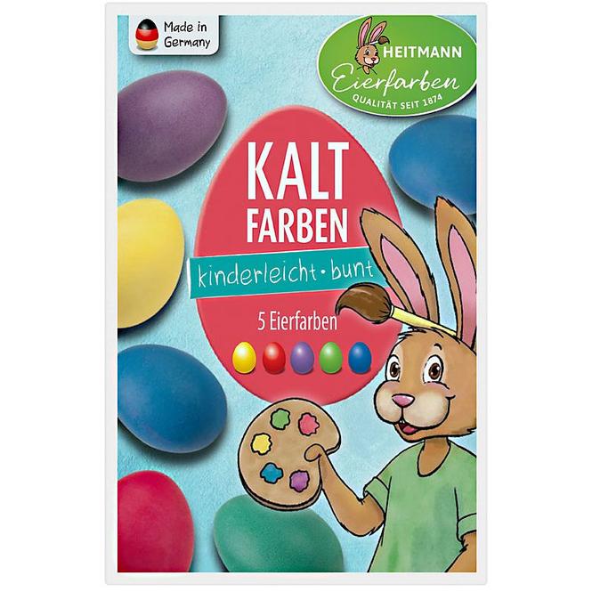 Ostereier-Kaltfarben - 5 Stück