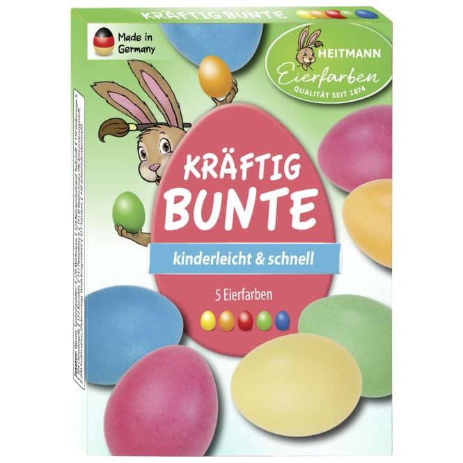Ostereier-Kaltfarben - kräftig-bunt - 5 Stück