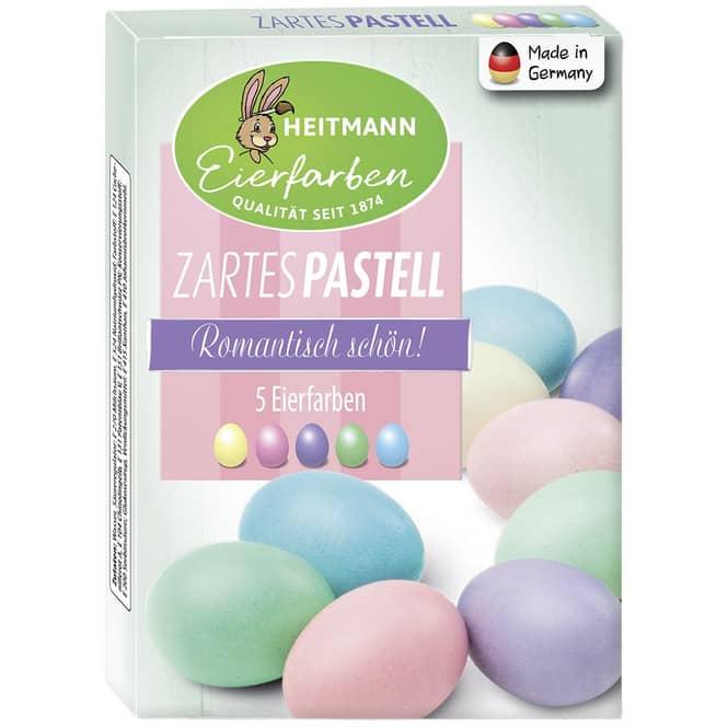 Ostereier-Kaltfarben - Zartes Pastell - 5 Stück