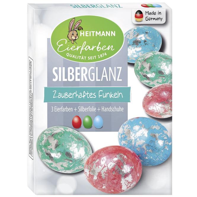 Eierfarben - Silberglanz - 3 Stück
