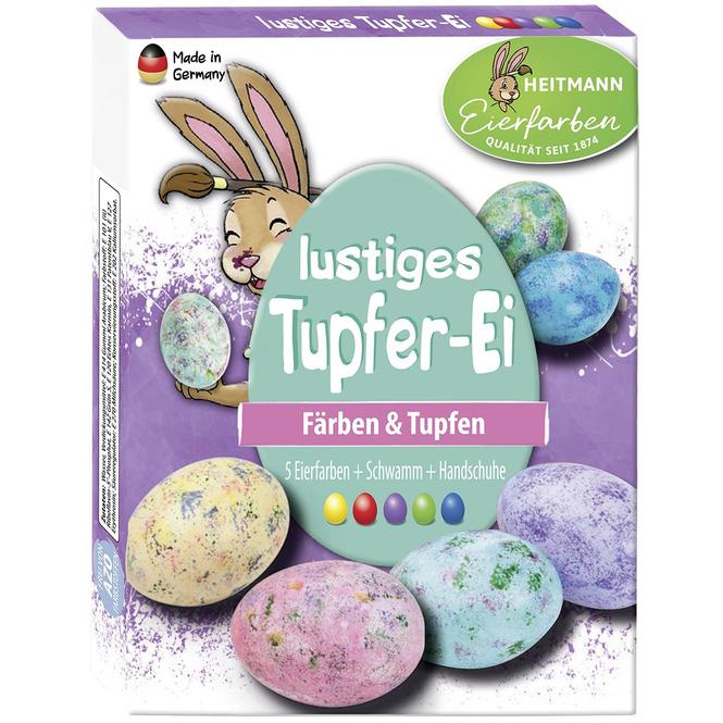 Lustiges Tupfer-Ei - Eierfarben - 5 Stück