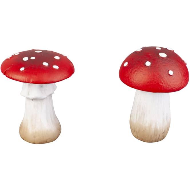 Pilz - aus Terrakotta - ca. 8,5 x 8,5 x 12,5 cm - 1 Stück
