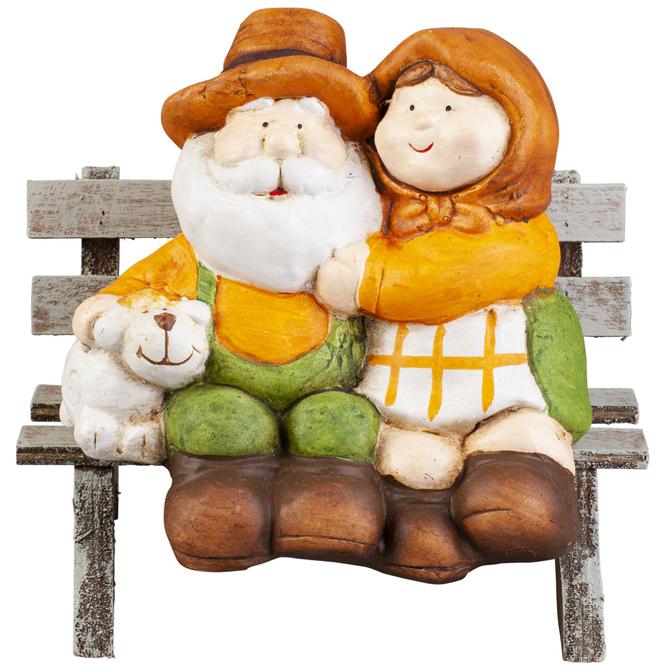 Dekofiguren - aus Terrakotta - 13 x 10,5 x 12,5 cm