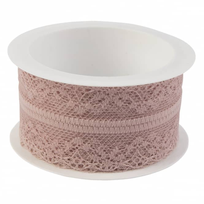 Geschenkband - Spitze - ca. 200 x 4 cm - rosa