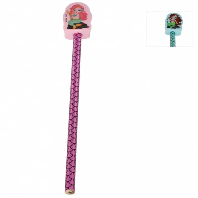 Bleistift mit Radierertopper - Meerjungfrau - 1 Stück
