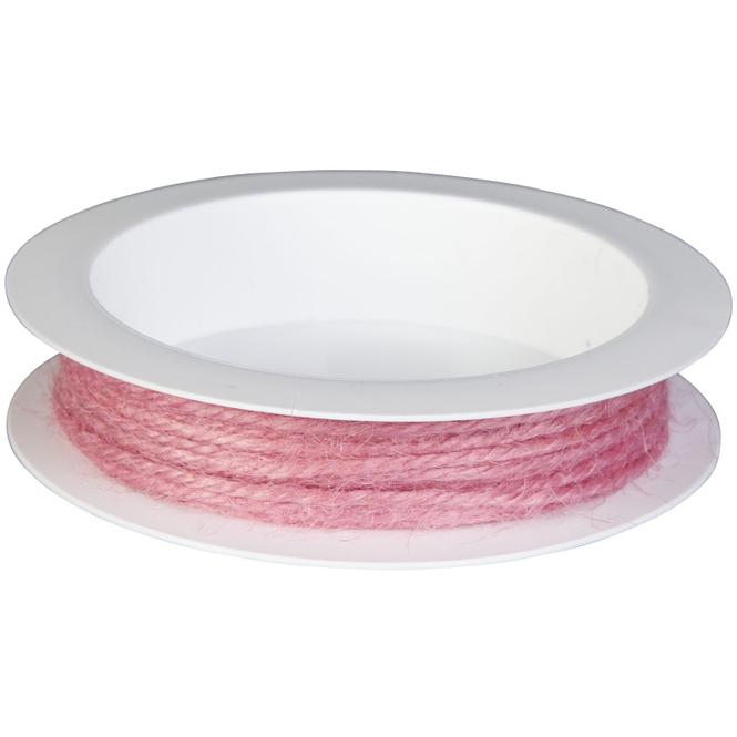 Kordel - aus Jute - 5 m - rosa