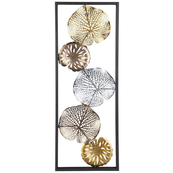 Wanddeko - Seerosenblätter - 30 x 3 x 84 cm