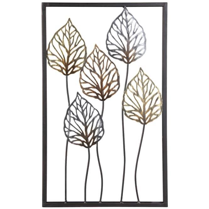 Wanddeko - Anthurienblätter - 30 x 1,5 x 50 cm