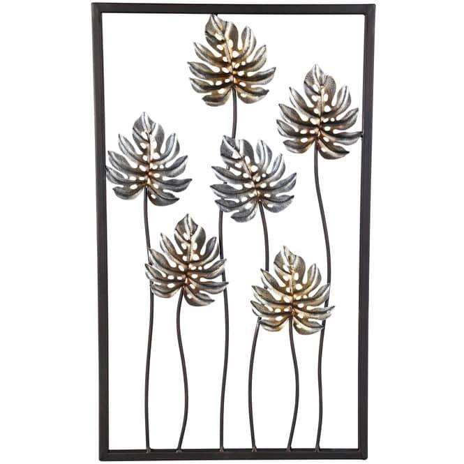 Wanddeko - Philodendronblätter - 30 x 1,5 x 50 cm
