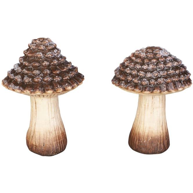 Pilz - aus Terrakotta - ca. 11,5 x 11,5 x 16,5 cm - 1 Stück