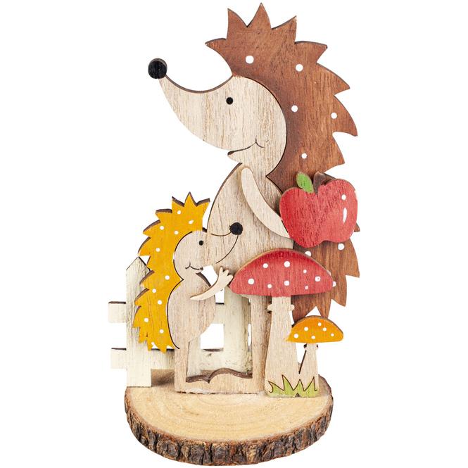 Standdeko - Igel - aus Holz - 8 x 8 x 15,5 cm