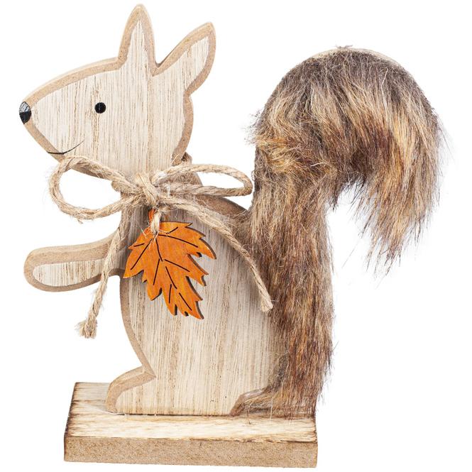 Eichhörnchen - aus Holz - ca. 12,5 x 4 x 14 cm