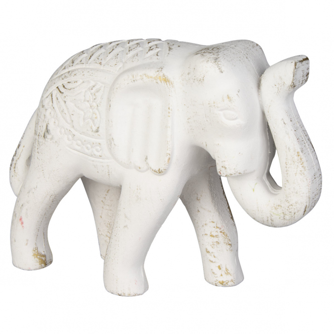 Deko-Elefant - aus Polyresin - ca. 12 x 6,5 x 11 cm