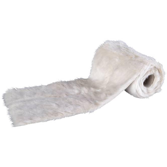 Tischläufer - Fell - ca. 200 x 15 cm - weiß