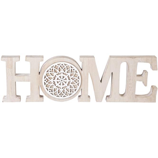 Deko-Schriftzug - Home - 40 x 2 x 12 cm