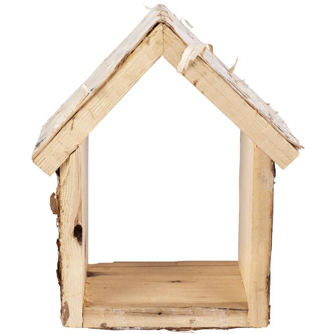 Dekohaus - aus Holz - ca. 15,5 x 8 x 20 cm
