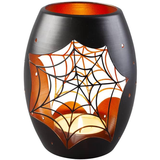 Windlicht - Spinnennetz - 12 x 12 x 12,5 cm