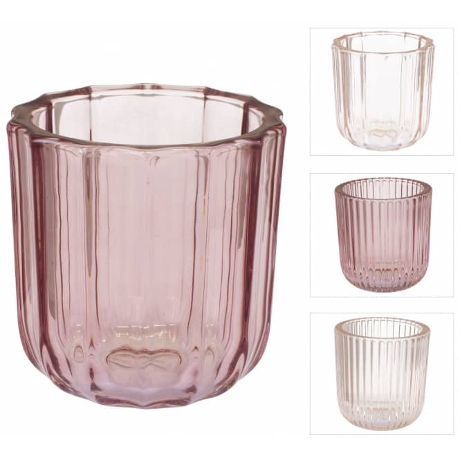 Teelichtglas - ca. 9 x 9,5 cm - 1 Stück