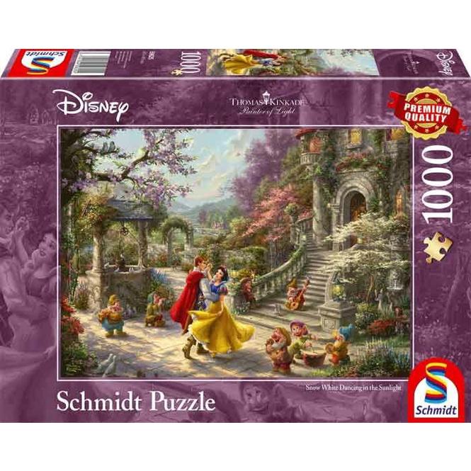 Puzzle Disney Schneewittchen - Tanz mit dem Prinzen - Thomas Kinkade - 1000 Teile