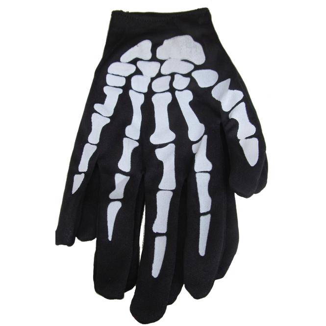 Skelett-Handschuhe - für Erwachsene - 1 Paar