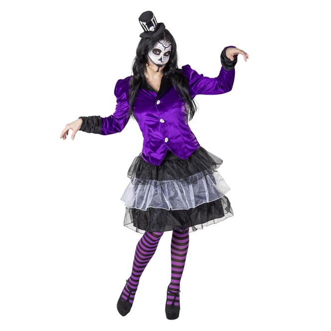 Kostüm - Voodoo-Lady - für Erwachsene - 3-teilig - verschiedene Größen