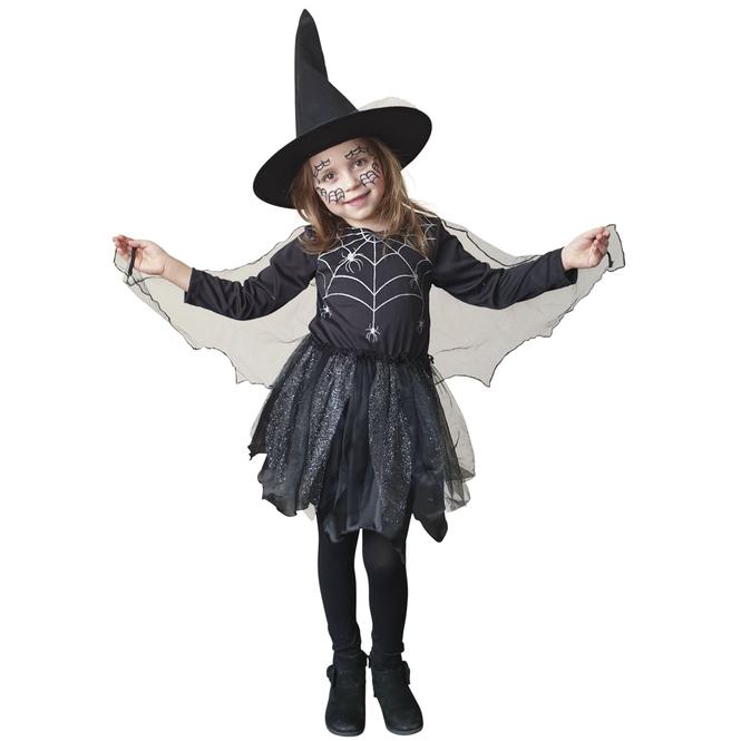 Kostüm - Spinnenmädchen - für Kinder - 2-teilig - Größe 134/140
