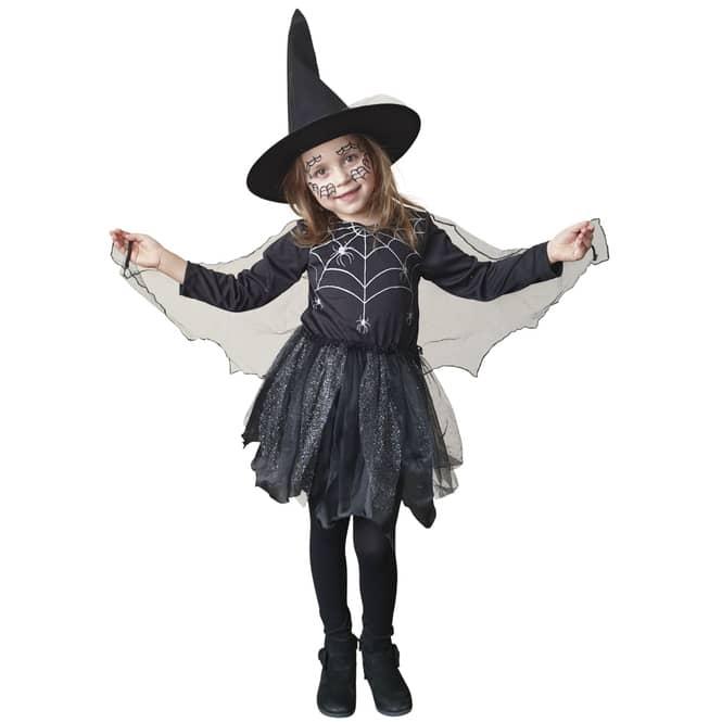 Kostüm - Spinnenmädchen - für Kinder - 2-teilig - verschiedene Größen