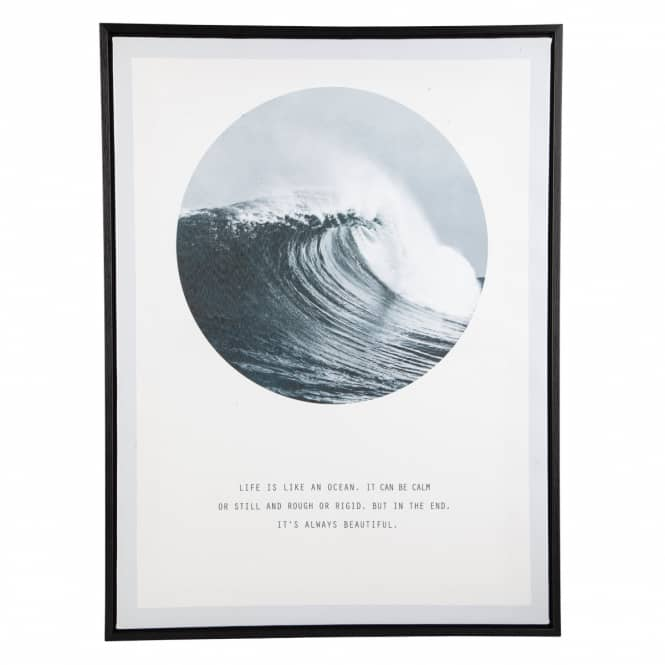 Canvasbild - Welle - ca. 45 x 60 x 3 cm