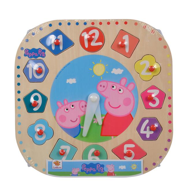 Peppa Pig - Holzlernuhr - 12 Teile